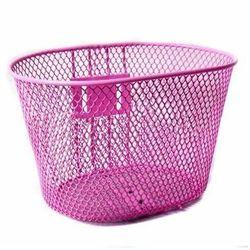 Koszyk przedni dziecięcy z uchwytem 175050 różowy - Różowy