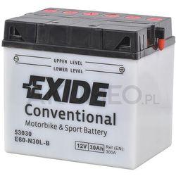 Akumulator EXIDE Conventional E60-N30L-B 12V 30Ah 300A prawy+ oP