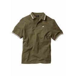 Shirt polo, krótki rękaw bonprix ciemnooliwkowy