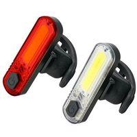 Oświetlenie rowerowe, zestaw diodowych lamp rowerowych Mactronic DuoSlim ABS0031
