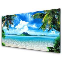 Panel Szklany Palmy Morze Tropikalna Wyspa