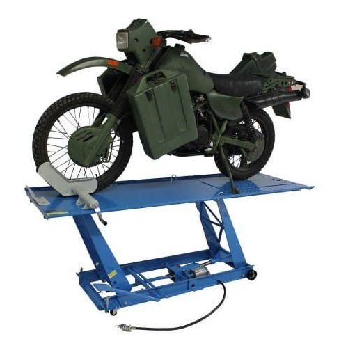 Pozostałe akcesoria do motocykli, Podnośnik motocyklowy hydrauliczno – pneumatyczny trapezowy 450 kg