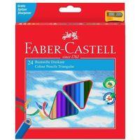 Kredki, Kredki trójkątne 24 kolory Eco z temperówką - FABER CASTELL