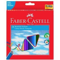 Kredki trójkątne 24 kolory Eco z temperówką - FABER CASTELL