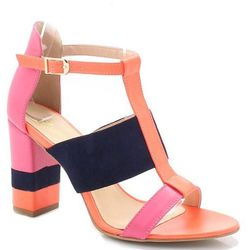 TYMOTEO 17603 NEONY RÓŻ - Sandały na słupku - Pomarańczowy ||Różowy ||Granatowy DZIEŃ CZEKOLADY - 20% (-25%)