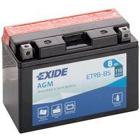 Akumulatory do motocykli, Akumulator motocyklowy EXIDE ET9B-BS/ YT9B-BS 12V 8Ah 110A EN L+