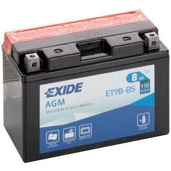 Akumulator motocyklowy EXIDE ET9B-BS/ YT9B-BS 12V 8Ah 110A EN L+