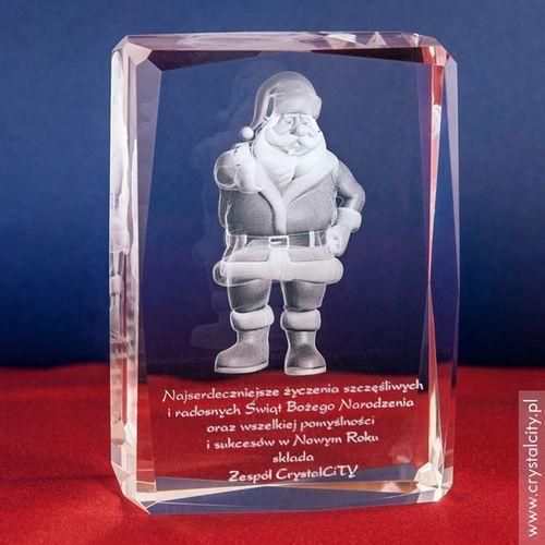 Ozdoby świąteczne, Święty Mikołaj 3D • personalizowana statuetka 3D średnia • GRAWER 3D