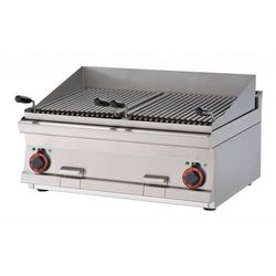 Grill wodny elektryczny   podwójny   380x425mm   9600W   800x600x(H)280mm
