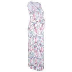 Długa sukienka ciążowa, shirtowa bonprix beżowy w deseń paisley