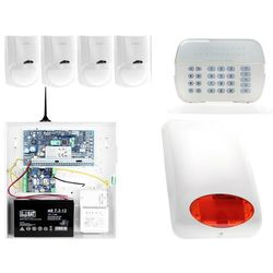 ZA12540 Zestaw alarmowy DSC 4x Czujnik ruchu Manipulator LED Powiadomienie GSM