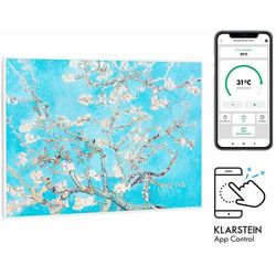 Klarstein Wonderwall Air Art Smart, grzejnik na podczerwień, 80x60cm, 500W, kwiaty