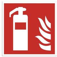 Sprzęt przeciwpożarowy, Tabliczka informacyjna - gaśnica