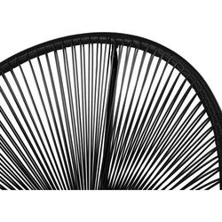 Meble ogrodowe czarne - balkonowe - stół z 2 krzesłami - ACAPULCO