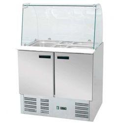 Stół chłodniczy sałatkowy 2 drzwiowy z nadstawą STALGAST 842222