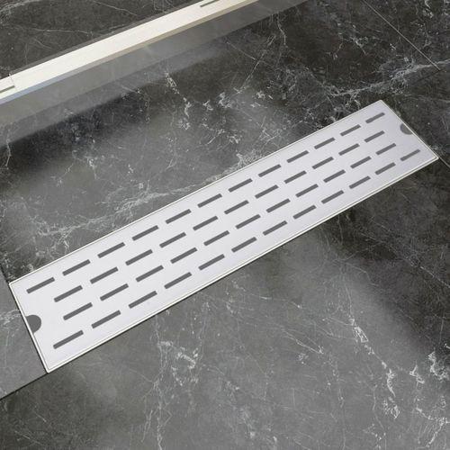 kratka odpływowa, liniowa, 530x140 mm, wzór linii, stal nierdzewna marki Vidaxl