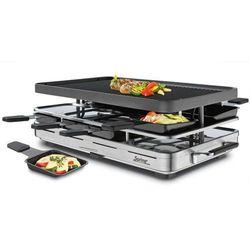 grill Raclette 8 INOX z aluminiową, dwustronną płytą - SPRING - Inox
