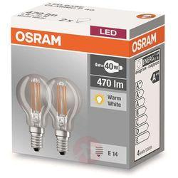 Żarówka LED OSRAM 4058075803961, E14, 4 W = 40 W, 470 lm, 2700 K, ciepła biel, 230 V, 10000 h, 2 szt.