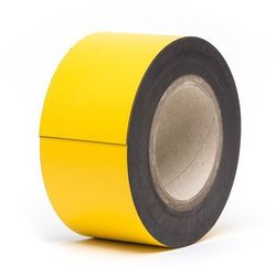 Magnetyczna tablica magazynowa, żółte, rolka, wys. 80 mm, dł. rolki 10 m. Zapewn