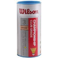 Badminton i speedminton, Lotki badminton Wilson Championship 3 sztuki żółte 78