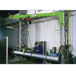Ścienny żuraw obrotowy AW 180 bez wciągnika el., nośność 250 kg, wysięg 4 m, żół