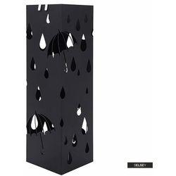 SELSEY Stojak na parasole Rain metalowy czarny na planie kwadratu