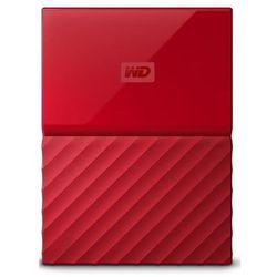 WD dysk zewnętrzny My Passport 2TB, czerwony (WDBS4B0020BRD-WESN) - BEZPŁATNY ODBIÓR: WROCŁAW!