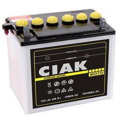 Akumulator motocyklowy CIAK 12N24-3A 12V 24Ah 240A P+