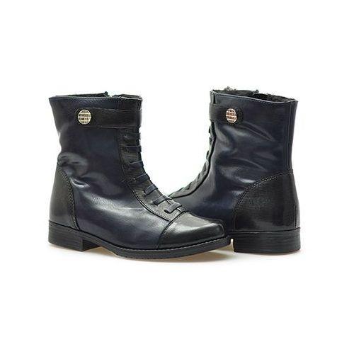 Pozostałe obuwie dziecięce, Botek dziewczęcy Kornecki 04586 Granatowe