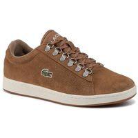 Męskie obuwie sportowe, Sneakersy LACOSTE - Carnaby Evo 319 3 Sma 738SMA0011BW7 Lt Brw/Off Wht