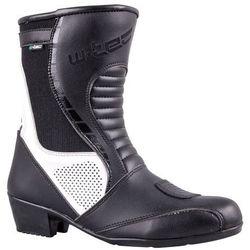 Damskie skórzane buty motocyklowe W-TEC Beckie W-5036, Czarno-biały, 39