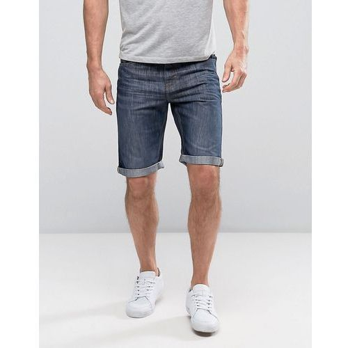 Pozostała odzież męska, Threadbare Basic Denim Turn Up Shorts - Blue