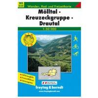 Mapy i atlasy turystyczne, Freytag & Berndt Wander-, Rad- und Freizeitkarte Mölltal, Kreuzeckgruppe, Drautal (opr. miękka)