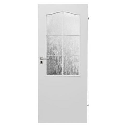 Drzwi wewnętrzne, Drzwi pokojowe Klasyk 80 prawe białe