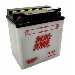Akumulator motocyklowy Moto Power CB10L-B2 YB10L-B2 12V 11Ah 160A EN P+
