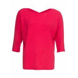 Shirt z ozdobnym dekoltem z tyłu bonprix czerwony