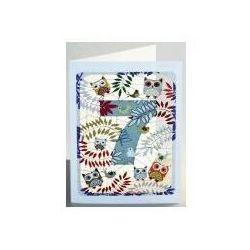 Karnet pm797 wycinany + koperta urodziny 7 sowy