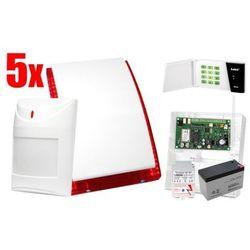 Bezprzewodowy System alarmowy SATEL: Płyta Główna MICRA, Manipulator MKP-300, 5 x Czujka MPD-300, Sygnalizator, Akcesoria