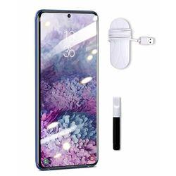 Baseus 2x szkło hartowane UV 3D na cały ekran 0,25 mm lampa klej UV do Samsung Galaxy S20 Ultra (SGSAS20U-UV02) - Samsung Galaxy S20 Ultra -50% (-50%)