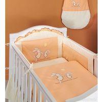 Zabezpieczenia do łóżeczek, MAMO-TATO Ochraniacz do łóżeczka 60x120 Wesołe zajączki brzoskwiniowe - PROMOCJA