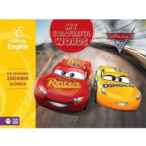 Książki dla dzieci, My Colourful Words, Auta 3, Disney English - Opracowanie zbiorowe (opr. miękka)