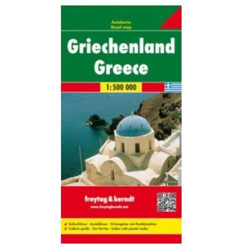 Mapy i atlasy turystyczne, Grecja 1:500 000. Mapa samochodowa, składana.F&B (opr. twarda)