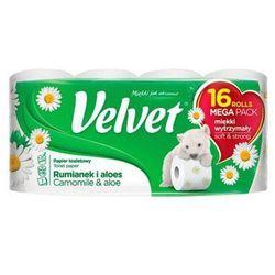 Papier Toaletowy celulozowy VELVET Rumianek i Aloes, 3-warstwowy, 16szt., biały