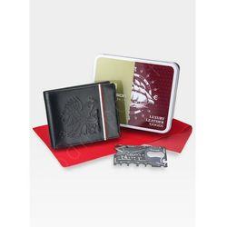 Portfel Męski Peterson 304 Z orłem i Flagą Polski Patryjotyk Patriotyczny + Ninja Card