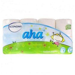 Papier toaletowy AHA Economy biały 8 rolek