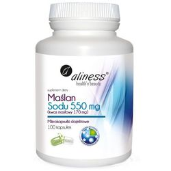 Aliness - Maślan Sodu 550mg - 100kaps VEGE