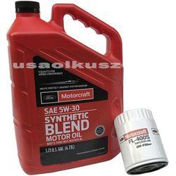 Oryginalny filtr oraz syntetyczny olej silnikowy Motorcraft 5W30 Ford Maverick 2,0 L4
