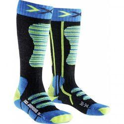 Skarpety naciarskie x-socks ski junior 2017 szary|niebieski|zielony