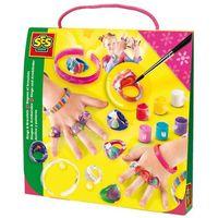 Kreatywne dla dzieci, SES Zestaw Tęczowe pierścionki i bransoletki