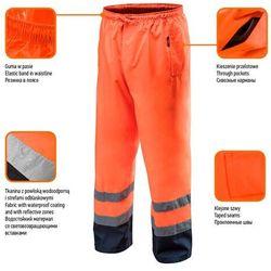 Spodnie robocze wodoodporne pomarańczowe L NEO